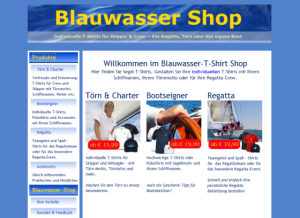 Screenshot Blauwasser-Shop